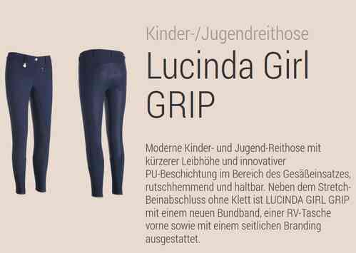 Breeches Lucinda Girl GRIP, PIKEUR