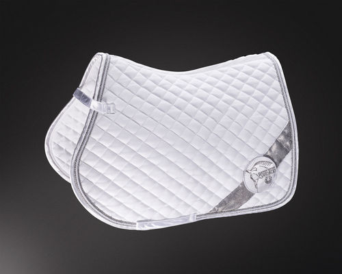ESKADRON Saddle Pad DIAGONAL CRYSTAL - PLATINUM 2015