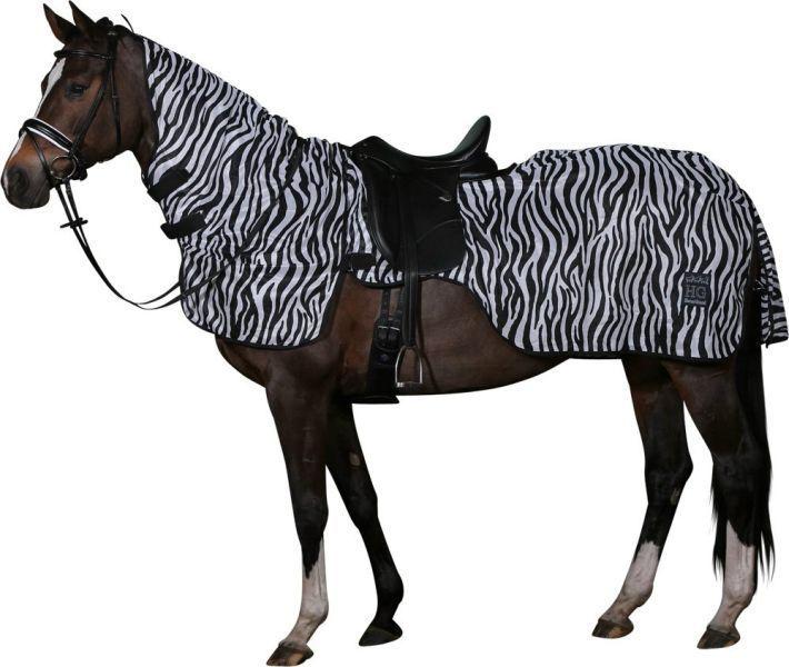 Zebra Pattern Horse Rug: HORSEGUARD Quarter Fly Sheet ZEBRA