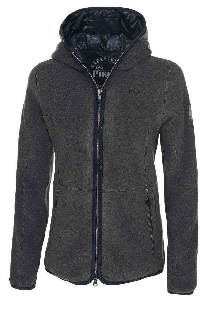 outdoor damen fleece jacke mit kapuze