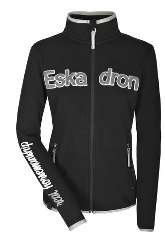 ESKADRON Fleece Zip-Shirt Women NICKY, caviar